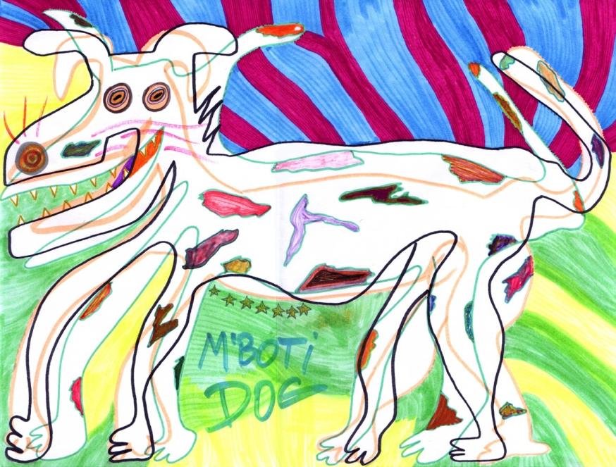"""""""M'boti Dog"""" 2004 (30x40 cm)"""